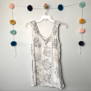 Anthropologie Feather & Bone Village Tank